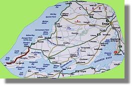 Carte de la comté de Clare d'Ouest