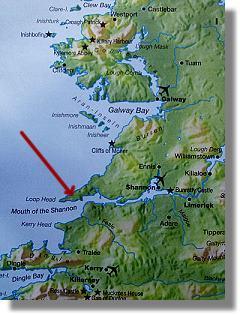 Carte d'irlande D'Ouest