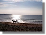 Riding on Doughmore Beach