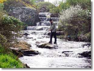 Fishing in Annageeragh River
