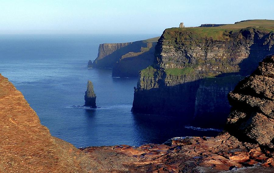 Irland Cliffs Of Moher Karte.Der Westen Von Clare In Irland Cliffs Of Moher Der Wild