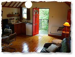 De woonkeuken in The Loft  - klik op de foto voor een vergroting